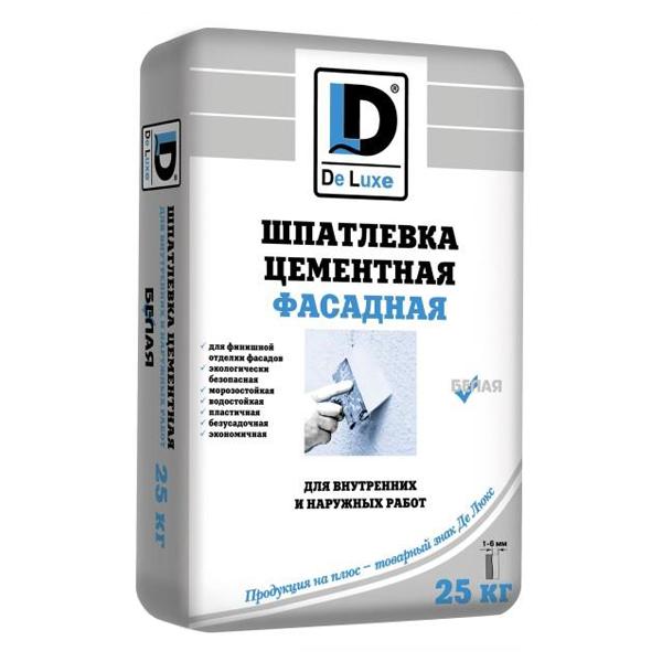 """Шпаклевка цементная """"DeLuxe"""" белая - 235"""
