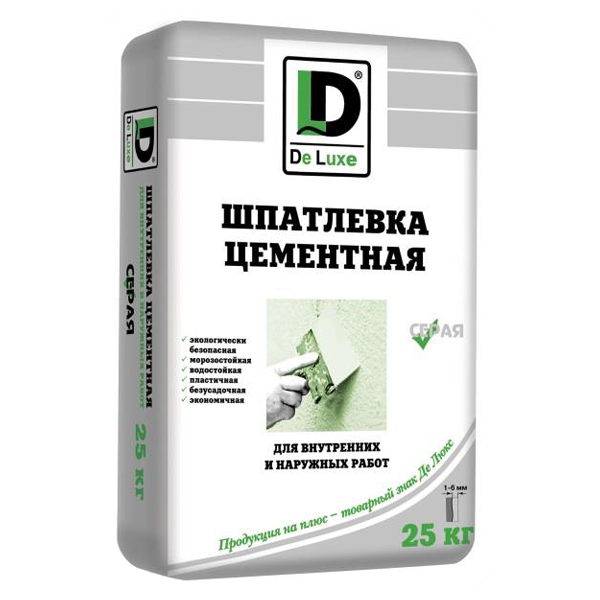 "Шпаклевка цементная ""DeLuxe"" серая - 476"