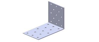 Крепежный уголок равносторонний KUR - 750