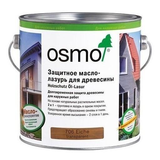 Защитное масло лазурь для древесины OSMO Holzschutz Öl-Lasur 2.5 л.