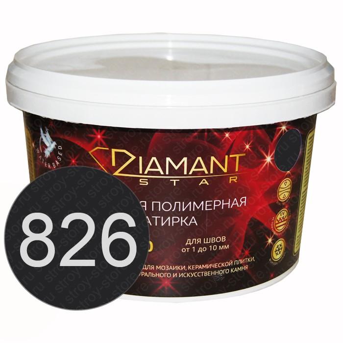 Полимерная затирка Diamant Star lvl.80, 826 черный - 1444