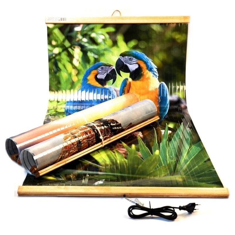 Электрообогреватель настенный «Домашний очаг» Попугаи - 1452
