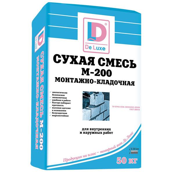 """Монтажно-кладочная сухая смесь """"DeLux"""" М200 - 243"""