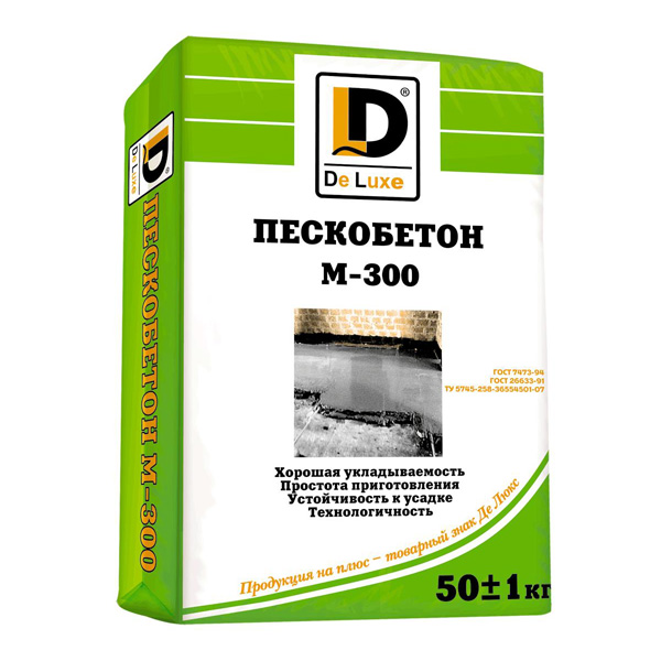 """Пескобетон """"DeLux"""" М300"""