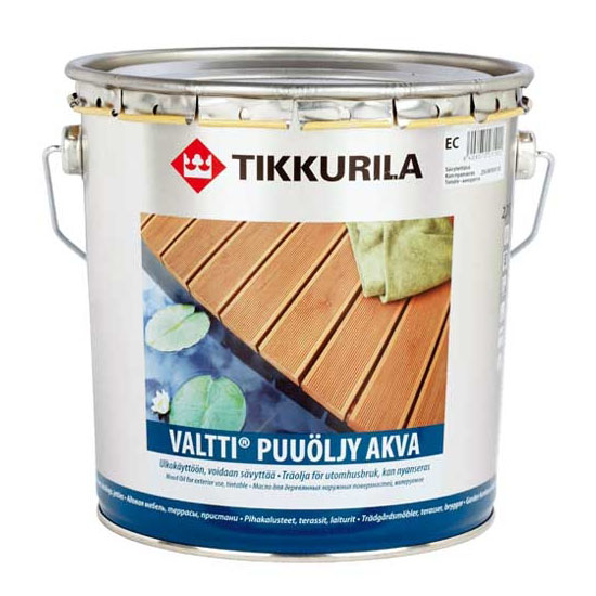Масло для дерева Tikkurila Valtti Akva (Валтти Аква) 3 л - 589