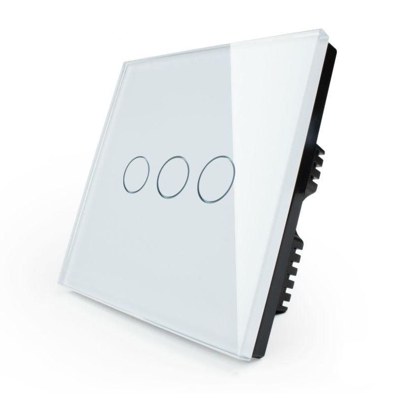 Выключатель сенсорный трехлинейный с радиоуправлением - 595