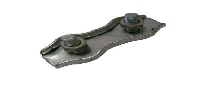 Зажим троса плоский х2 (DUPLEX)