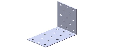 Крепежный уголок равносторонний KUR