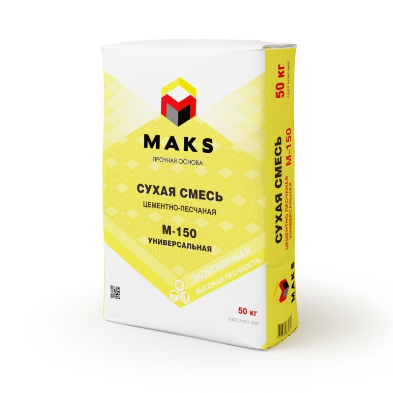 """Цементно-песчаная смесь Универсальная М-150 """"MAKS"""" - 810"""