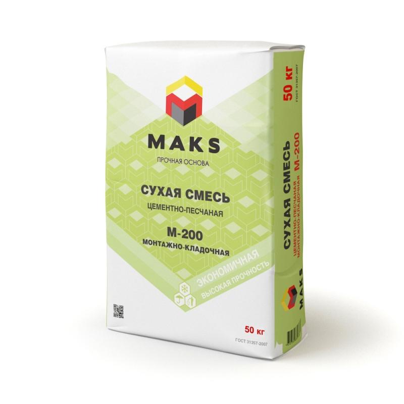 """Смесь монтажно-кладочная М-200 """"MAKS"""" - 811"""